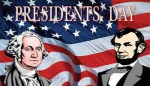 Presidents Day - No School